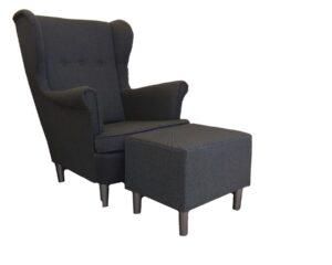 Fotel Uszak + Podnóżek